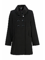 DB To Waist Roll neck mid length coat