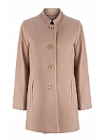 Mandarin Collar Tailored Classic 3/4 length coat