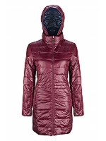Slim Line Reversible Puffa Jacket Mid Length Lightweight Feather and down Jacket