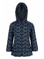 Kids Spotty Puffa Puffa with hood