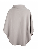High Neck Button Cape Cape with high neck button detail