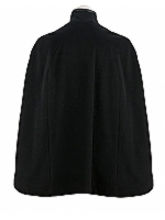 Cape with Leather Trim Leather trim cape