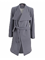 Wrap Broad collar self tie coat