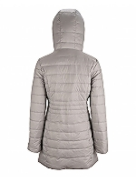 Reversible Puffa Jacket Mid Length Lightweight Feather and down Jacket