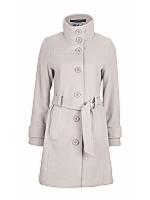 Diva High neck, belted coat