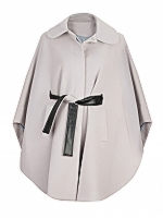 Maxine Long Mid length belted cape with concealed buttons