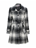 Diva High neck, belted coat