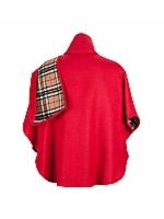 Check Scarf Cape Short Length Detailed check scarf short length cape