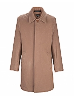 Milano Tab Front Slim cut coat with concealed buttons